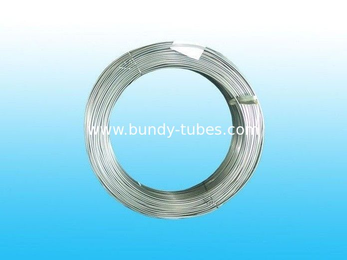 Hot Zinc Coated Galvanized Steel Tube For condenser 4.76 mm X 0.5 mm