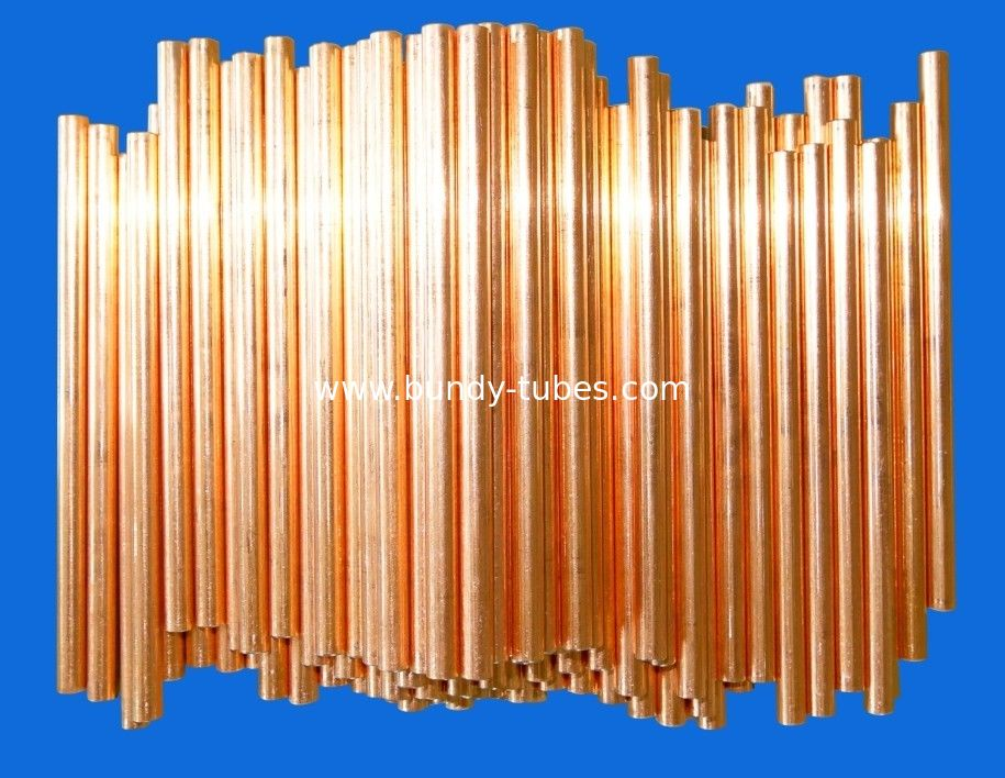 Chiller / Heaters Doulbe Side Copper Coated Bundy Tube 4.76mm X 0.5mm