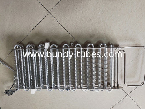 Refrigerator Parts Finned Aluminum Evaporator High Heat Exchange Rate