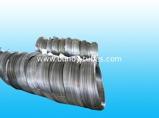 Round No Coating Steel Bundy Tube 8mm X 0.65 mm , 25% Elongation