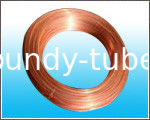 Steel Strip Copper Coated Tube / For Freezer 8mm X 0.7 mm
