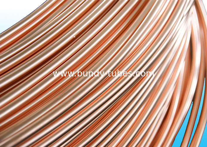Easy To Bend Refrigeration Copper Tube 4.76 * 0.5mm , 25% Elongation
