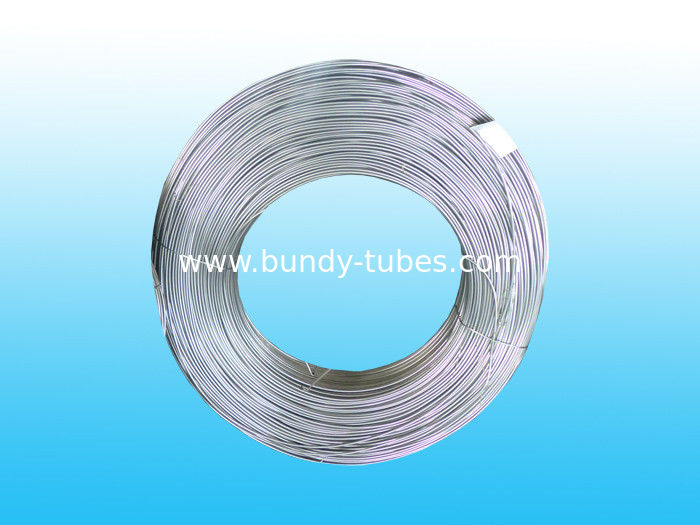 Steel Zn Coated Bundy Pipe , Galvanized Evaporator Tube 4 * 0.65 mm